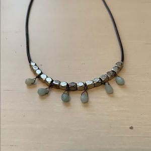 Fossil Leather Necklace
